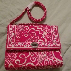 Vera Bradley hand bag with strap